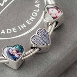 Blue Crystals Photo Charm