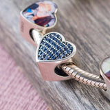 Sapphire Photo Charm | Photo Charms - Annalise Jewellery