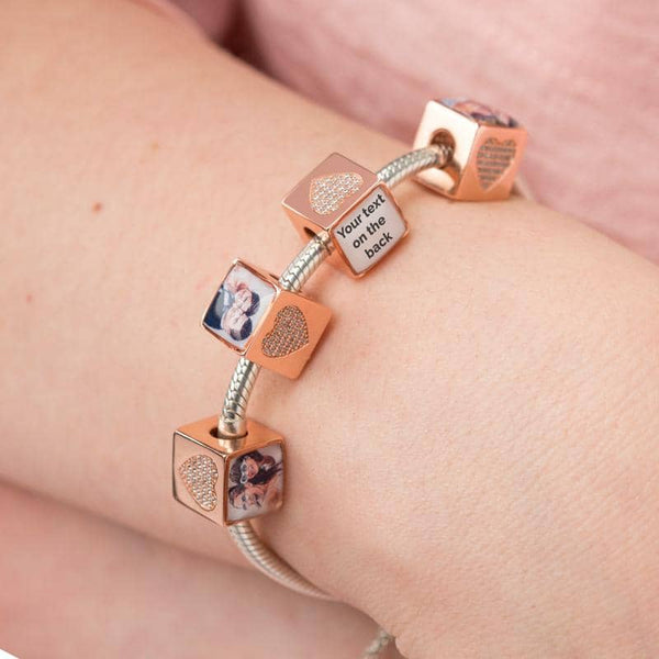 Love Photo Message Charm | Rose Gold Photo Charm - Annalise Jewellery