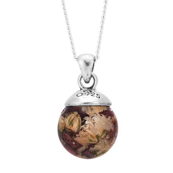 Dried Flowers Ball Pendant | Dried Flower Jewellery - Annalise Jewellery