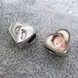 Foot Prints Photo Charm | Photo Charms - Annalise Jewellery