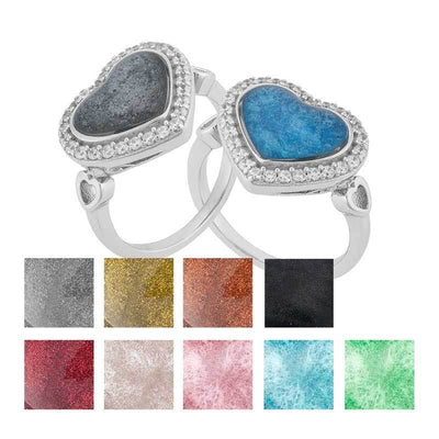 Heart Crystal Ashes Ring