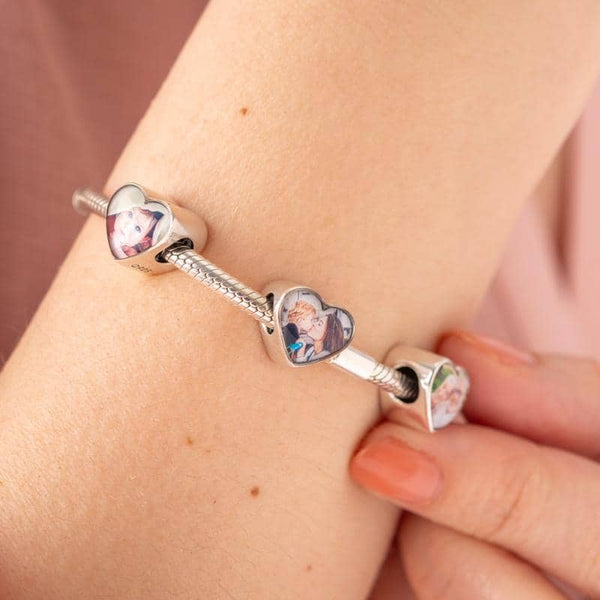 Grandad Heart Photo Charm | Photo Charms - Annalise Jewellery
