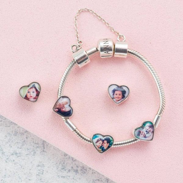Pink Crystals Photo Charm | Photo Charms - Annalise Jewellery