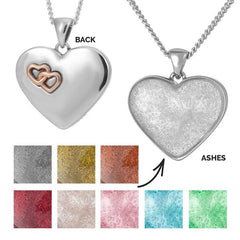 Rose Hearts Ashes Pendant | Ashes Pendant - Annalise Jewellery