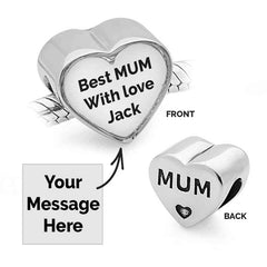 MUM Message Charm | Photo Message Charms - Annalise Jewellery