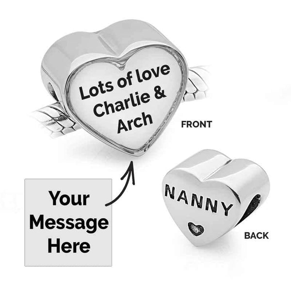 Nanny Message Charm - Photo Message Charms - Annalise Jewellery