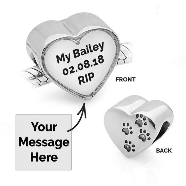 Pets Message Charm - Photo Message Charms - Annalise Jewellery