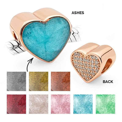 Rose Gold Ashes Charm