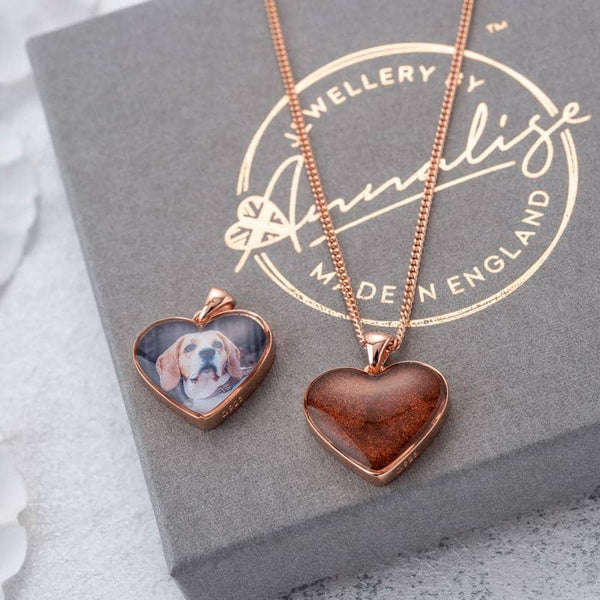 Rose Photo Ashes Pendant - Ashes Pendant - Annalise Jewellery