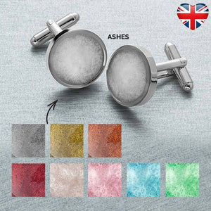 Ashes Memorial Cufflinks (Round)
