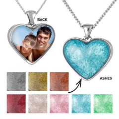 Silver Photo Ashes Pendant