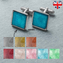 Ashes Memorial Cufflinks (Square)