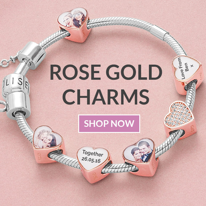 Rose gold personalised pandora charms
