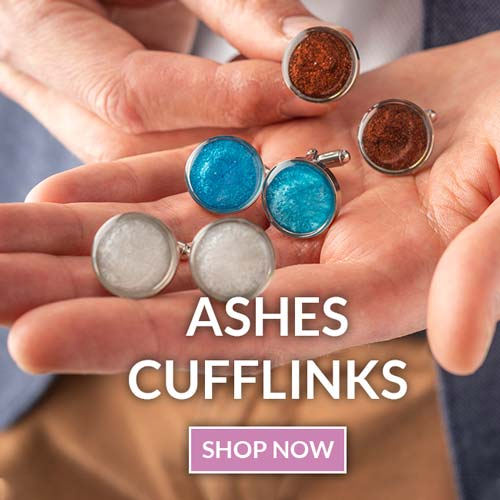 Ashes memorial cufflinks