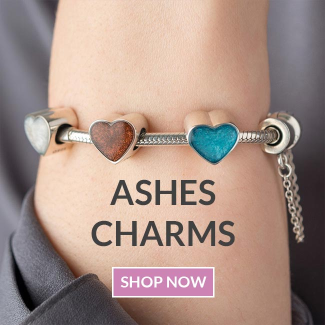 Personalised pandora ashes charms