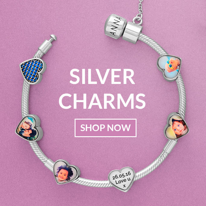 Personalised pandora photo charms