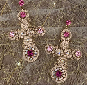 Shades of Pink gothic crosses