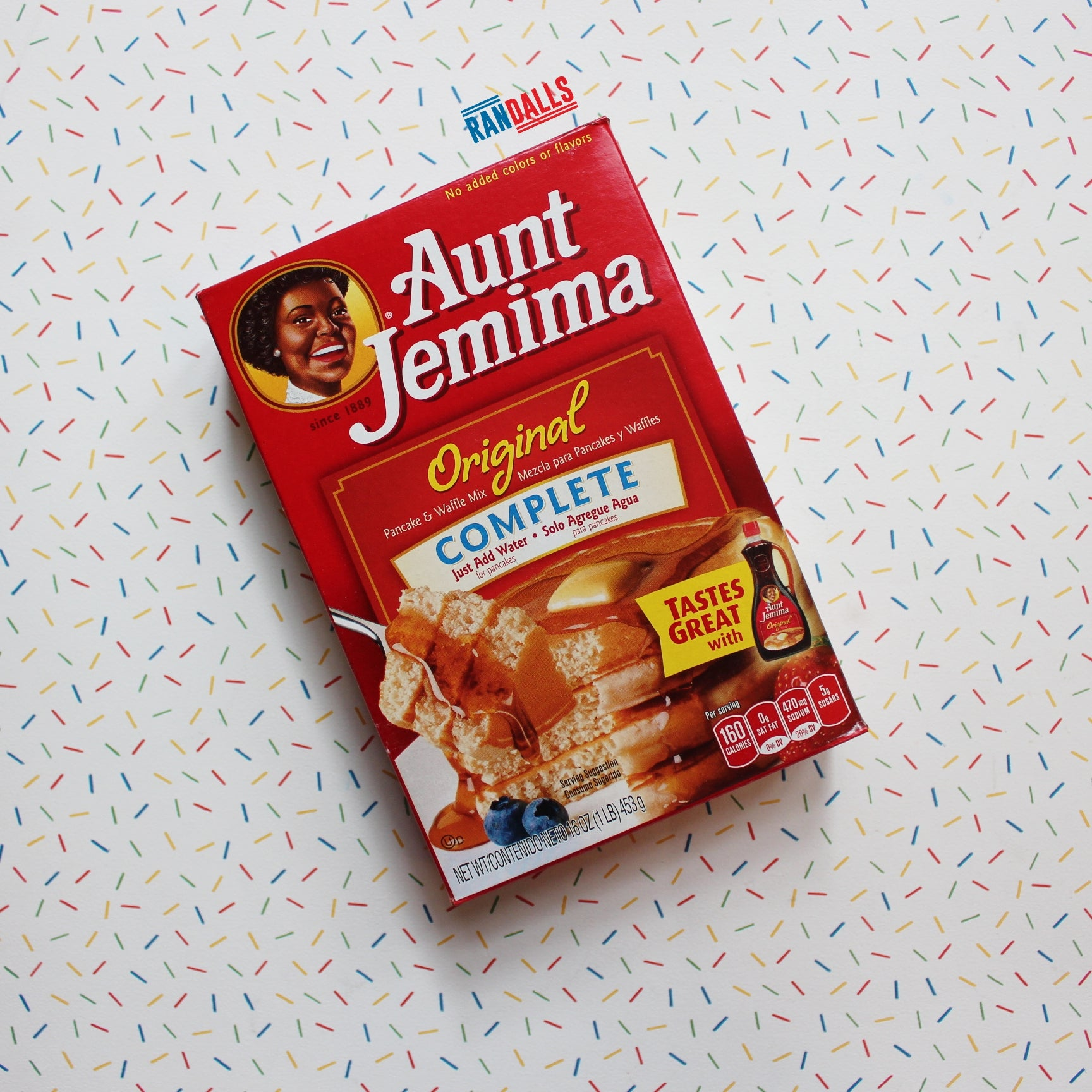 AUNT JEMIMA ORIGINAL PANCAKE MIX BOX
