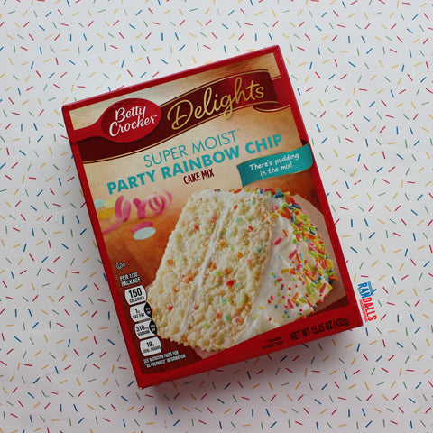 BETTY CROCKER RAINBOW PARTY CAKE MIX