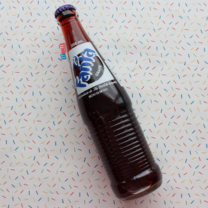 MEXICAN FANTA GRAPE GLASS BOTTLE