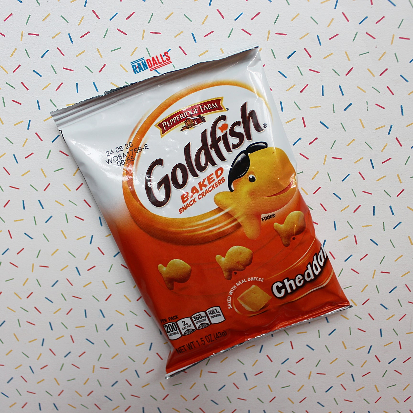 GOLDFISH CRACKERS CHEDDAR PACKET