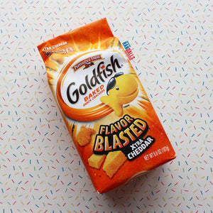 GOLDFISH CRACKERS BLASTED XTRA CHEDDAR