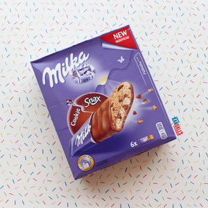 MILKA COOKIE SNACK BARS - BOX OF 6 (GERMANY)