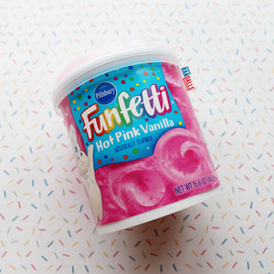 DUNCAN HINES FUNFETTI HOT PINK VANILLA FROSTING