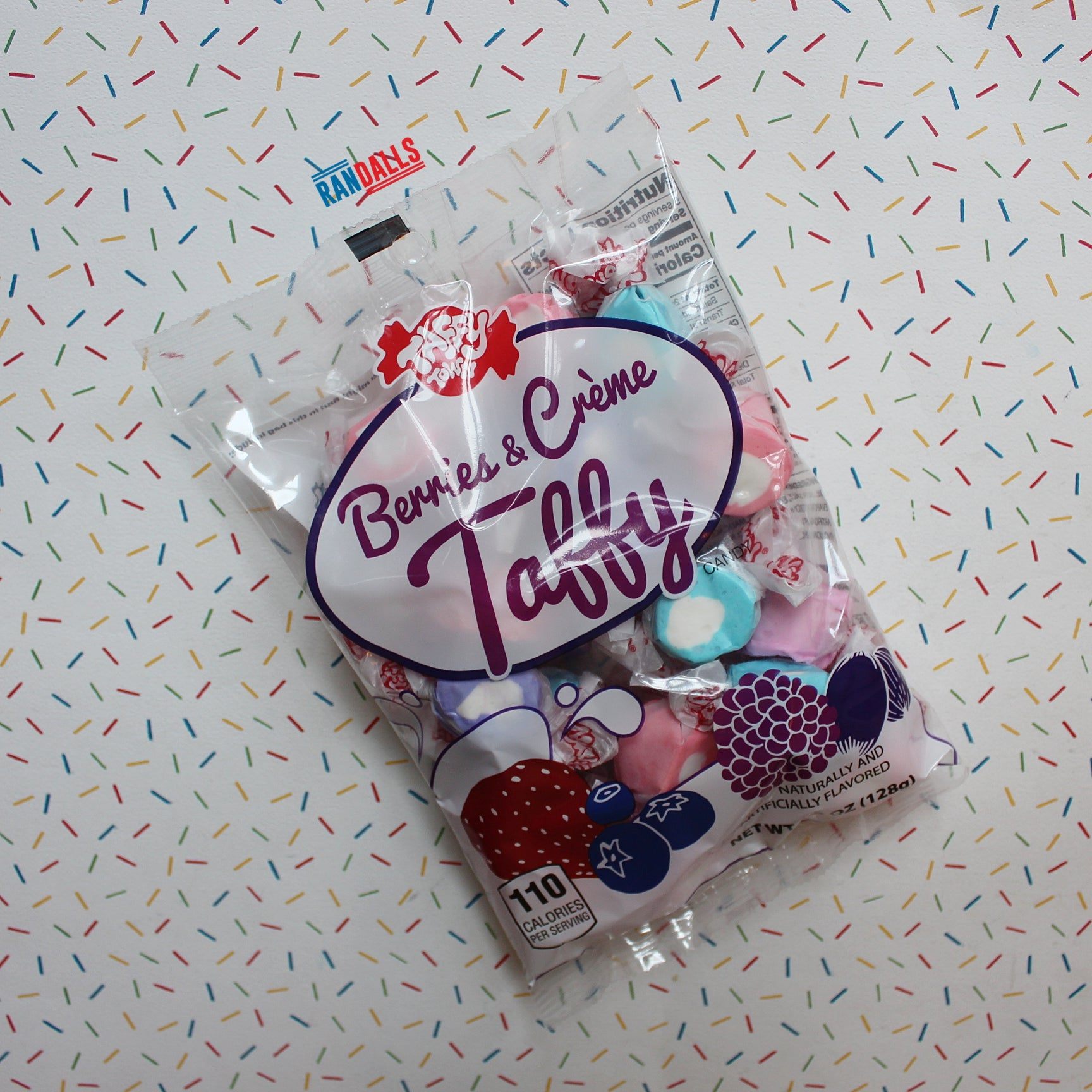 TAFFY TOWN SALT WATER TAFFY BERRIES & CREAM BAG