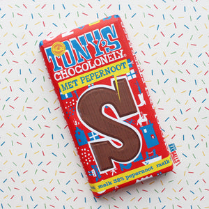 TONY'S CHOCOLONELY MET PEPERNOOT - MILK CHOCOLATE BISCOFF (NETHERLANDS)