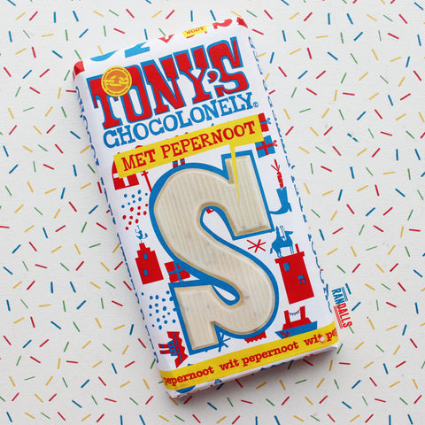 TONY'S CHOCOLONELY MET PEPERNOOT - WHITE BISCOFF (NETHERLANDS)