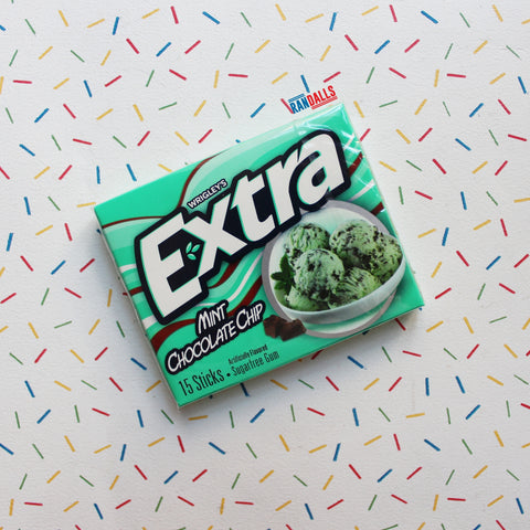 WRIGLEYS EXTRA MINT CHOC CHIP GUM (SHORT DATE)