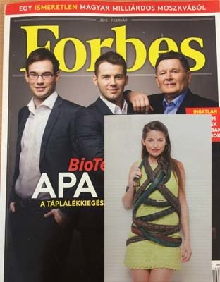 Laura Zabo in Forbes magazine Hungary