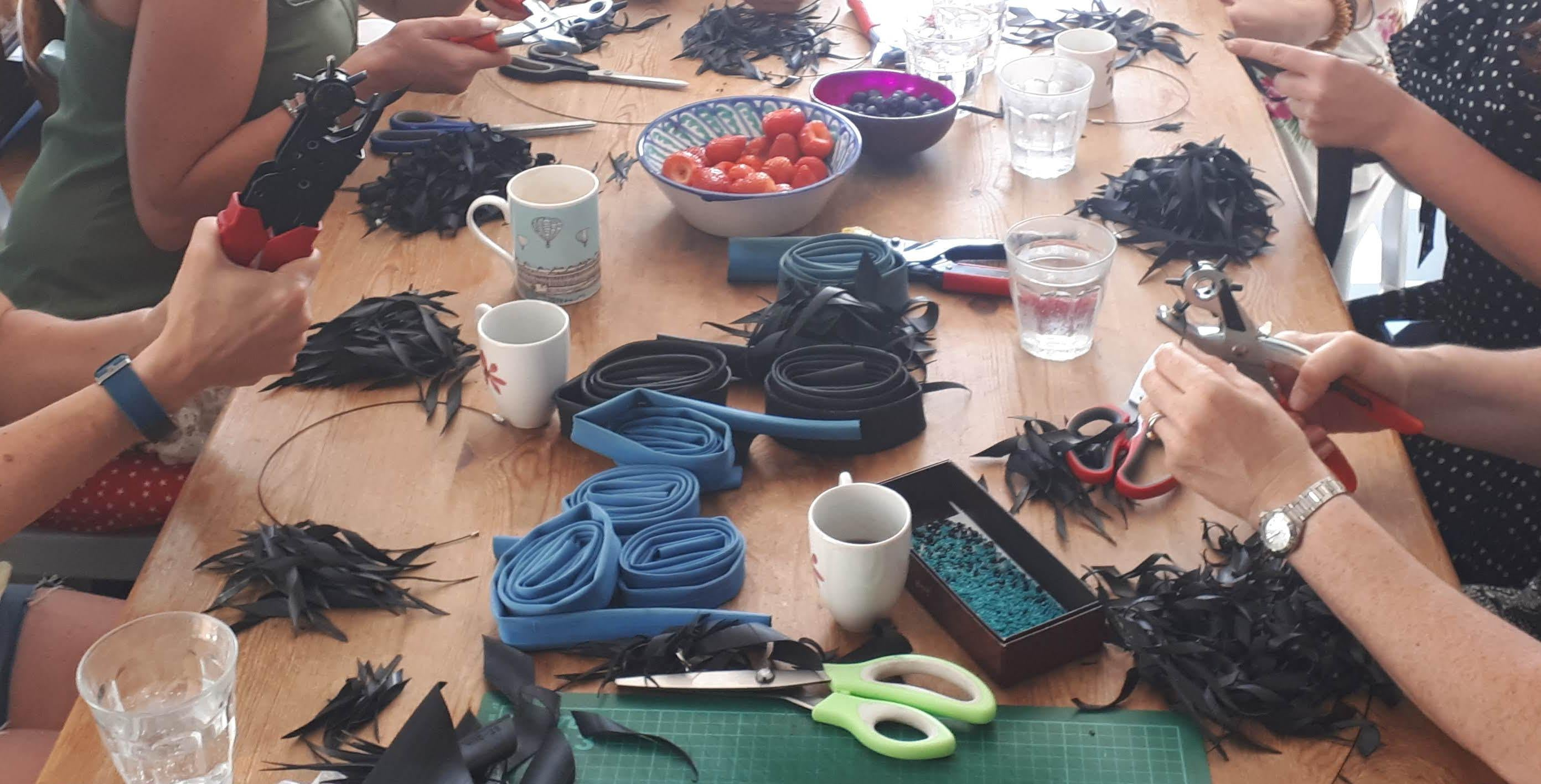upcycled jewellery making workshop by Laura Zabo