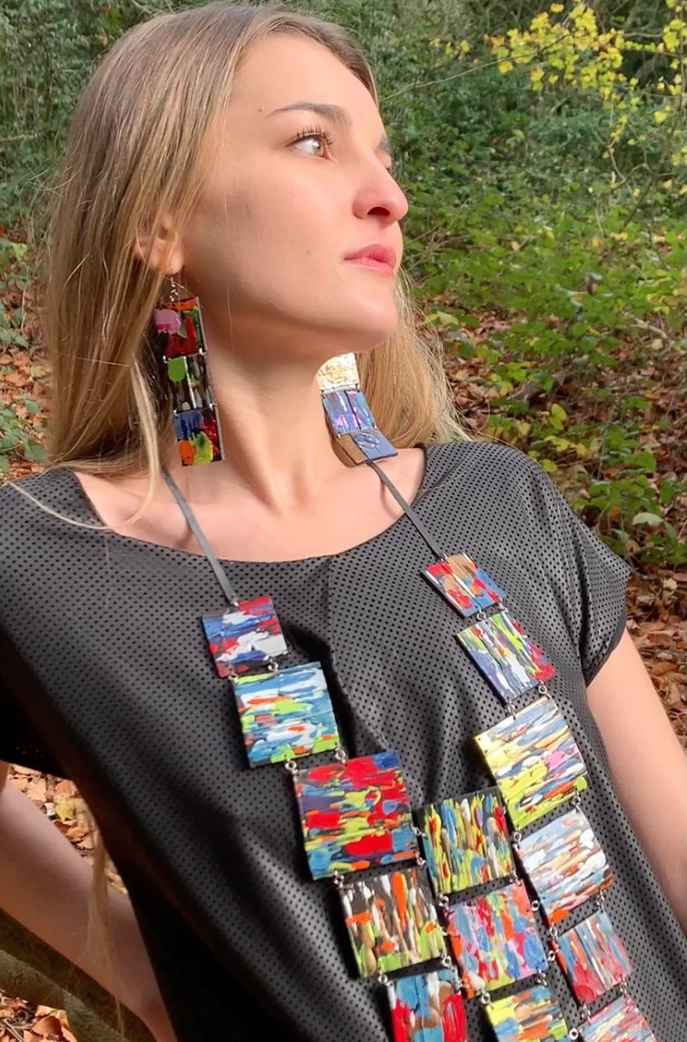 recycled jewellery statement necklace