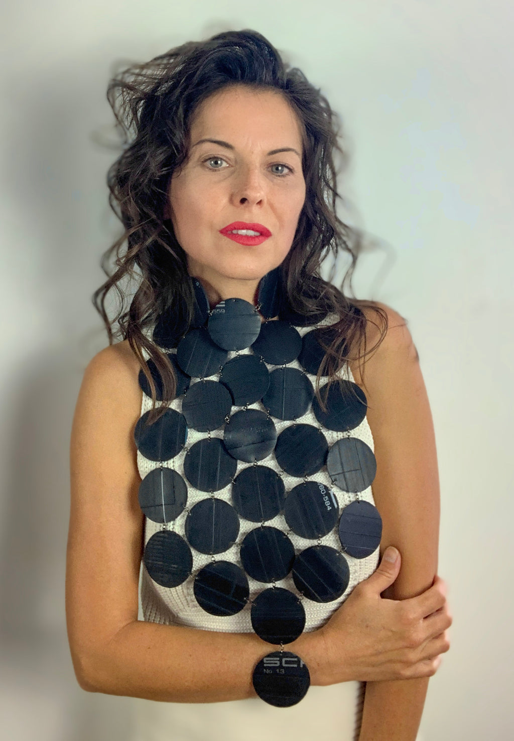 recycled jewellery, Bike tube neckpiece by Laura Zabo