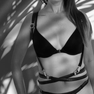 sexy body harness chest harness Laura Zabo
