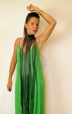 Barbara Inner Tube Fringe Necklace