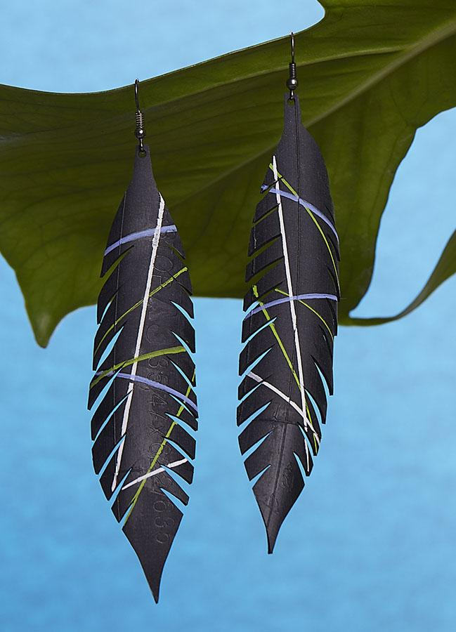 inner tube jewellery jewellery earrings by Laura zabo
