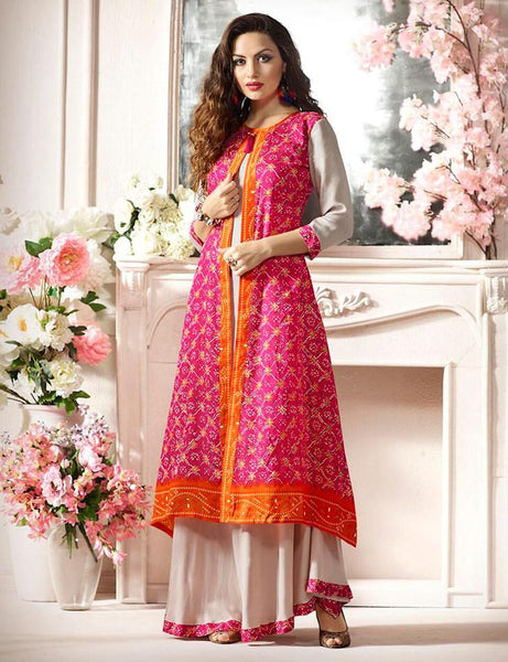 Multi Color Soft Silk & Rayon Printed  Party wear Readymade Dress