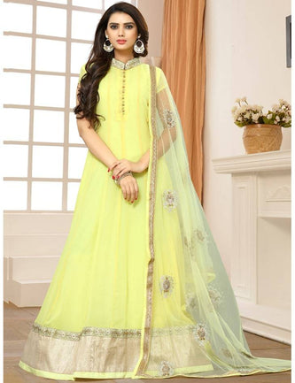 Pure Georgette Straight & Churidar Semi-Stitched Gown