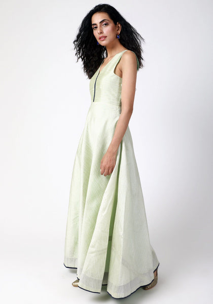 Mint Green Jacquard Dress