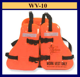 Taylor Tech WV-10 Type V USCG Approved Work Vest Adult up to 56
