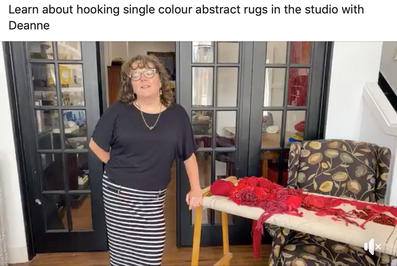 Hooking an Abstract Rug with a Single Colour