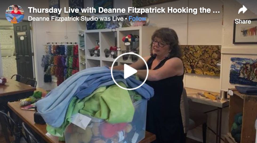 Thursday Live with Deanne: Hooking Backgrounds in Rugs
