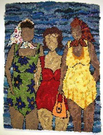 update alt-text with template Bathing Beauties 23X33-vendor-unknown-Rug Hooking Kit -Rug Hooking Pattern -Rug Hooking -Deanne Fitzpatrick Rug Hooking Studio -Is rug hooking the same as punch needle?