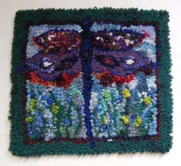 "update alt-text with template Dragonfly Pattern 12"" by 14""-vendor-unknown-Rug Hooking Kit -Rug Hooking Pattern -Rug Hooking -Deanne Fitzpatrick Rug Hooking Studio -Is rug hooking the same as punch needle?"