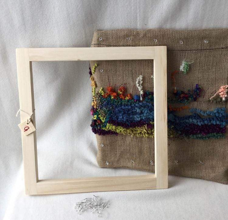 update alt-text with template Traditional Rug Frame-Frames-vendor-unknown-Rug Hooking Kit -Rug Hooking Pattern -Rug Hooking -Deanne Fitzpatrick Rug Hooking Studio -Is rug hooking the same as punch needle?