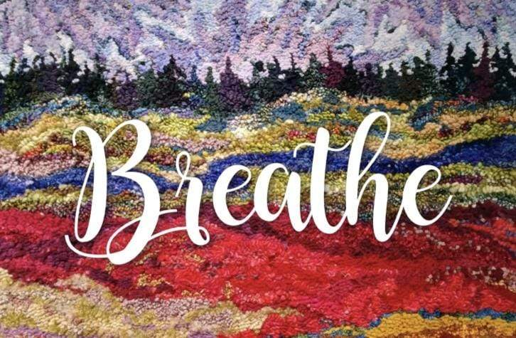 update alt-text with template Greeting Cards - Breathe-Gift Ideas-vendor-unknown-Rug Hooking Kit -Rug Hooking Pattern -Rug Hooking -Deanne Fitzpatrick Rug Hooking Studio -Is rug hooking the same as punch needle?